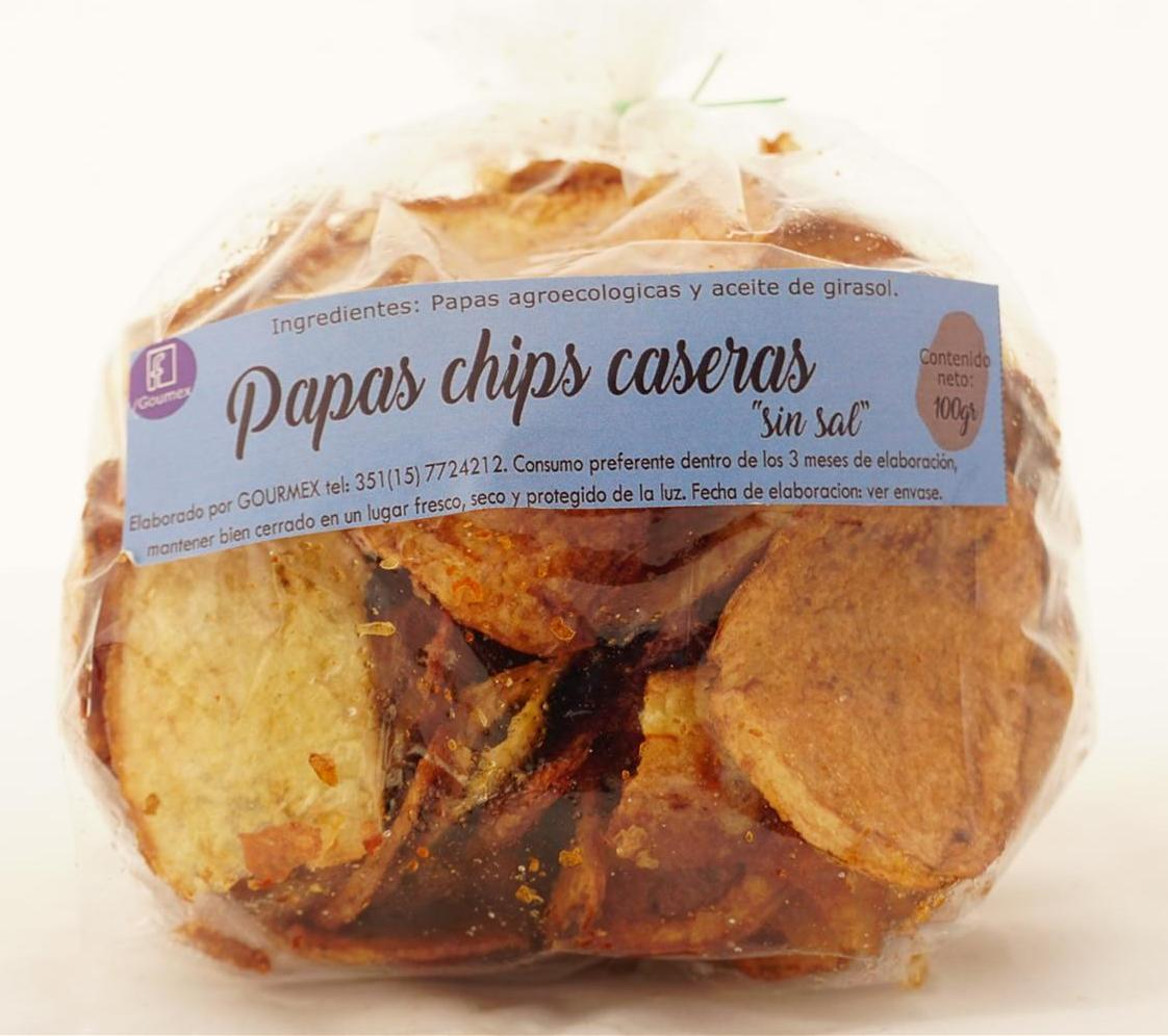 Papas chips caseras