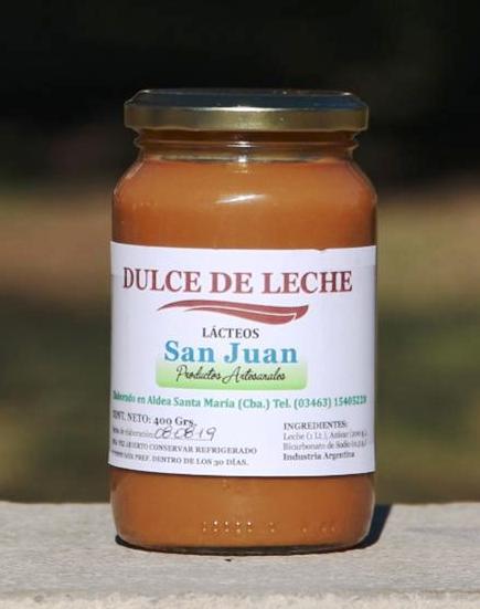 Dulce de leche - Lácteos San Juan
